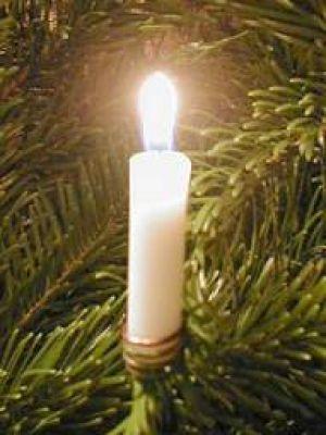 lyskæde udendørs til juletræ